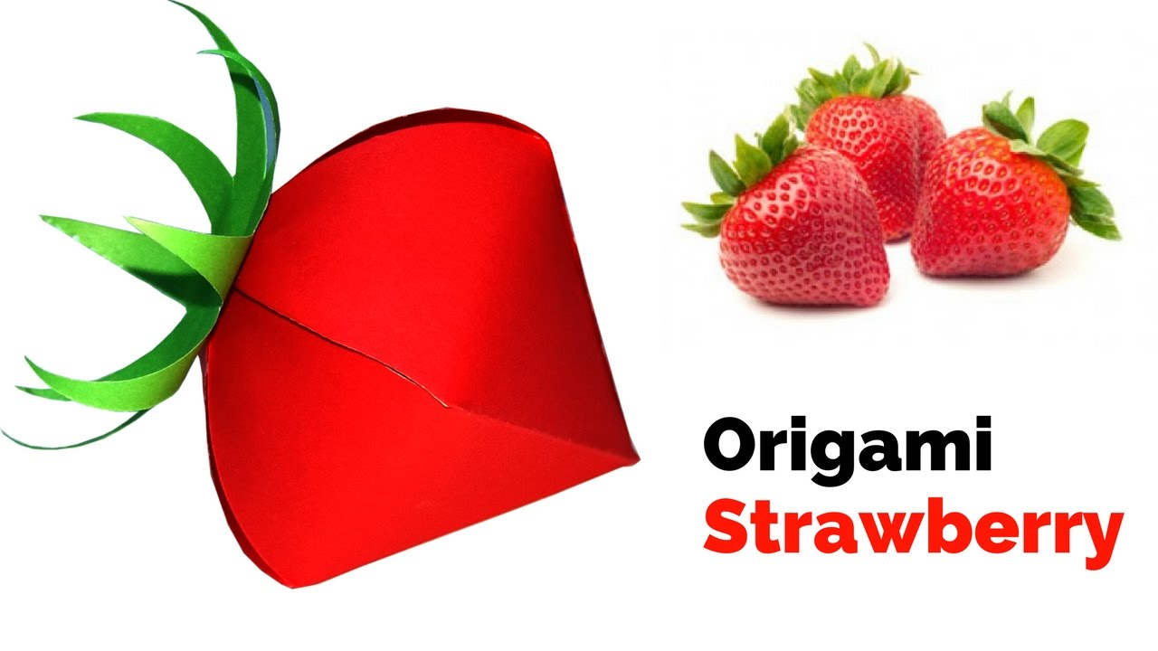 origami strawberry how to make a strawberry 3d origami
