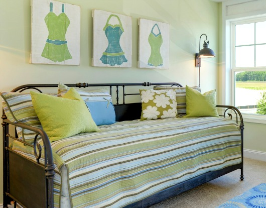 Blue and Green Daybed Nook