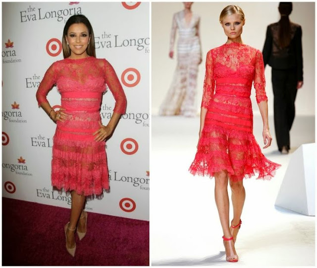 Eva Longoria in Elie Saab (Spring 2013) – Eva Longoria Foundation Dinner