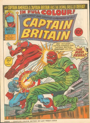 Marvel UK, Captain Britain #18, Captain America and the Red Skull