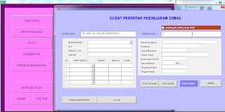 menu sppd - cetak surat perintah perjalanan dinas
