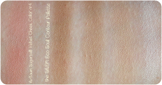 Aritaum Sugarball Velvet Cheek Color nr 4 - the SAEM Eco Soul Contour Palette - korean products- review swatch
