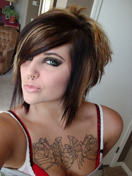 Tremendous Emo Girl Hairstyles For Short Hair Hairstyles Today39S Short Hairstyles Gunalazisus