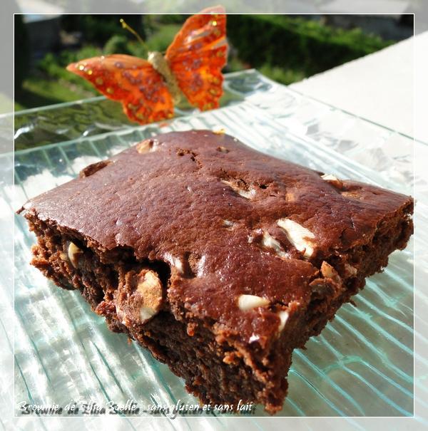 Brownie addictif ! sans gluten et sans lait