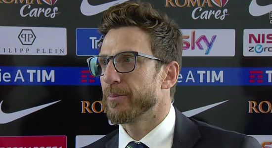 """SASSUOLO, Di Francesco: """"Mi tengo stretta la prestazione. Abbiamo retto fino a quando non è emersa la qualità della Roma"""""""