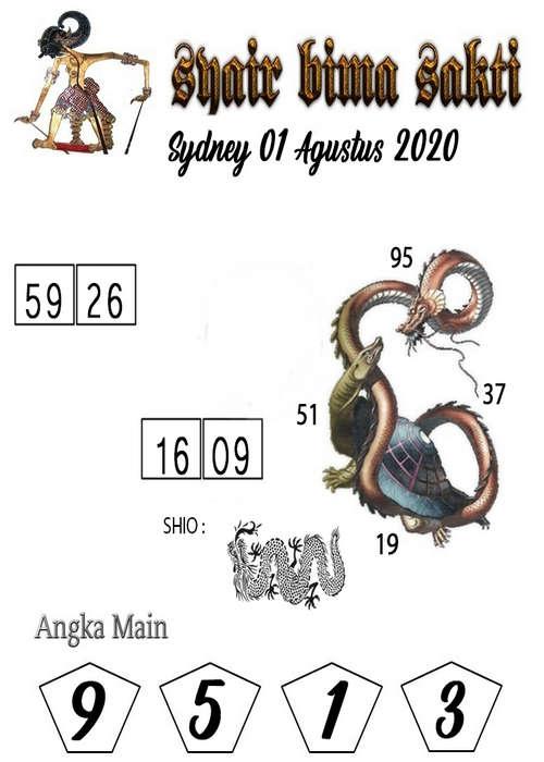 Kode syair Sydney Sabtu 1 Agustus 2020 177