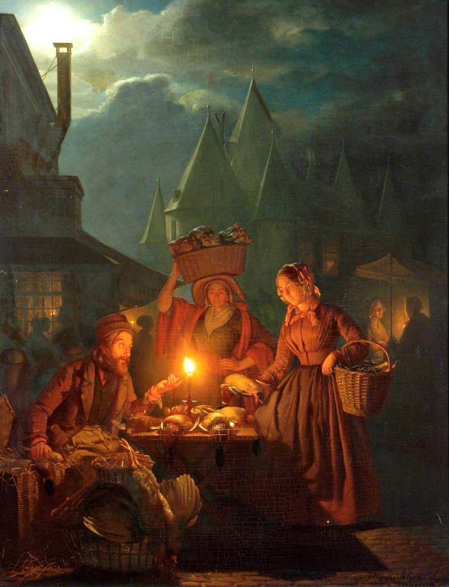 Mercado dos Judeus - Petrus van Schendel e suas pinturas ~ Especialista em cena noturna