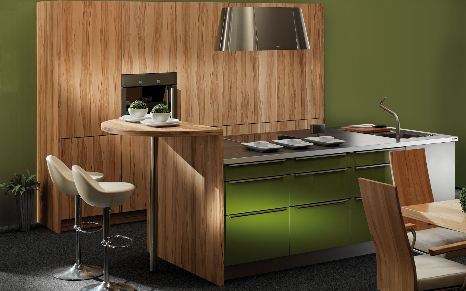 30 ideas de mesas y barras para comer en la cocina for Cocina con barra de retorno