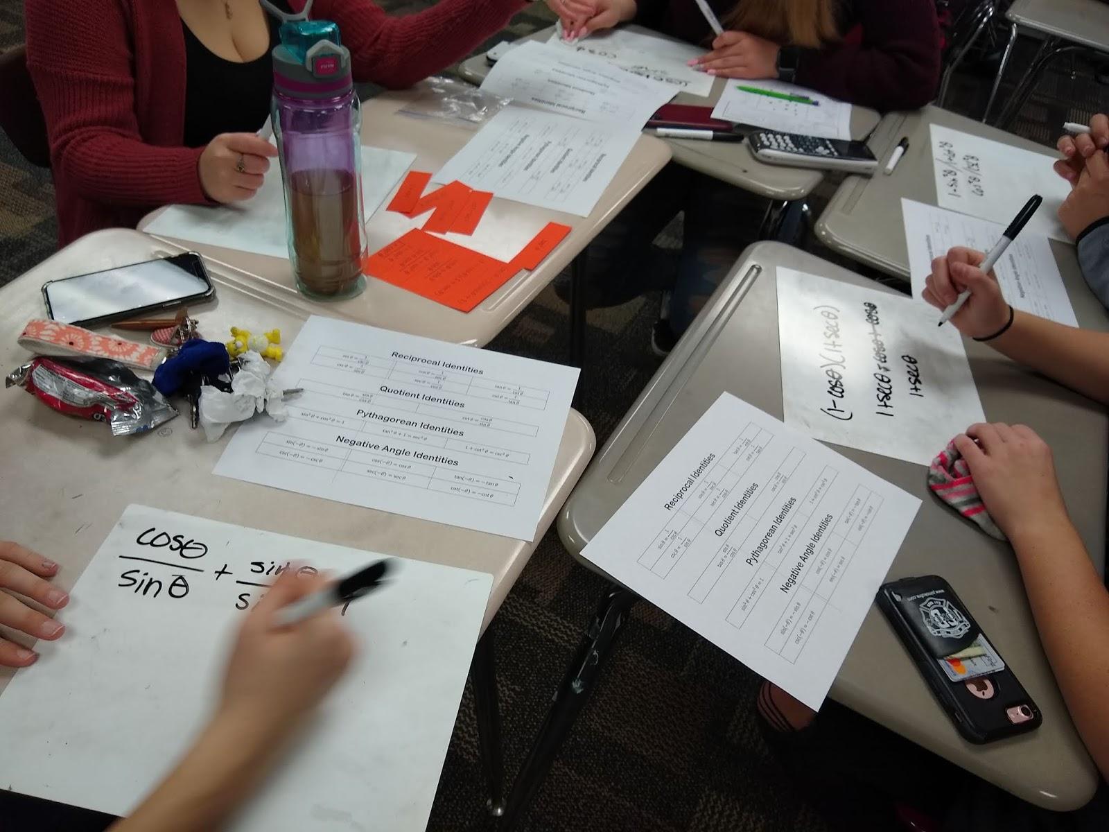 Math = Love: Trig Identity Match-Up Activity