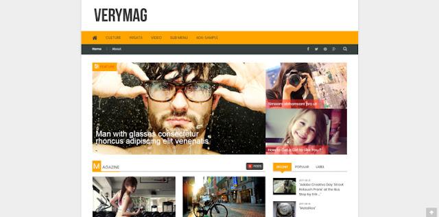 VeryMag бесплатный шаблон для Blogger