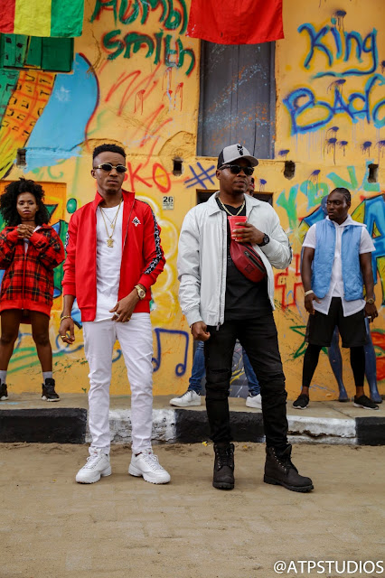 Humblesmith and Olamide shoot video for Abakaliki To Lasgidi with Clarence Peters