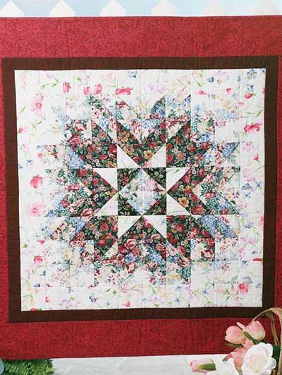 Floral Starburst Quilt Free Pattern