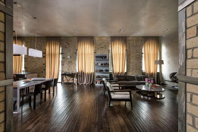 Hogares Frescos Loft Elegante Con Un Interior Estilo