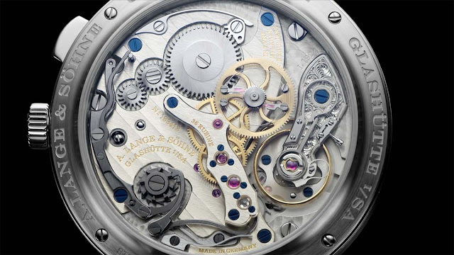 "The movement of the A. Lange & Söhne 1815 ""Homage to Walter Lange"" in steel"