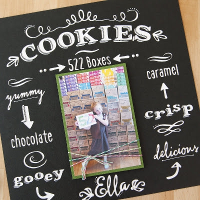 Chalkboard scrapbook layout