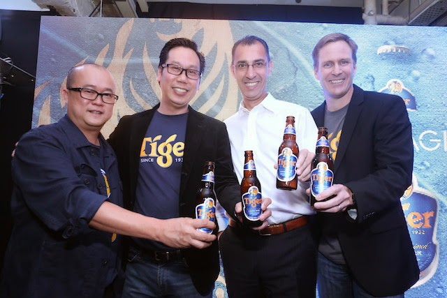 Mr. Tai See Wai, Marketing Manager of Tiger Beer, Mr. Thum Chee Yuen, Sales Director of GAB, Mr. Hans Essaadi, Managing Director of GAB and Mr. Bruce Dallas, Marketing Director of GAB