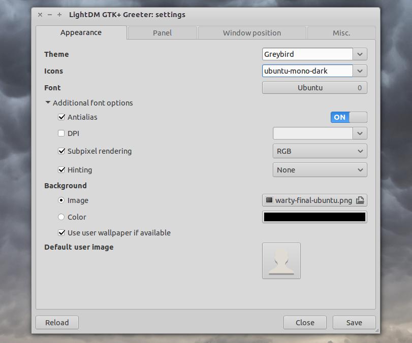 LightDM GTK+ Greeter Settings GUI ~ Web Upd8: Ubuntu
