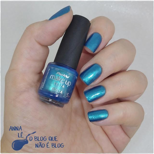 Bossa Panvel Esmalte Nailpolish Azul Blue Bleu Cintilante