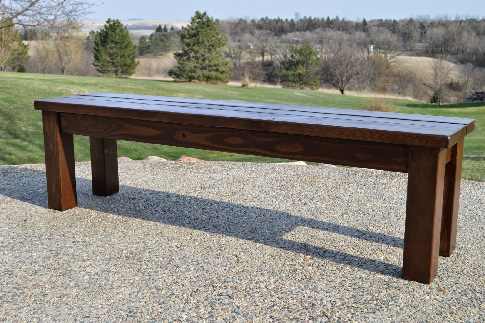 Diy Indoor Bench Seat Kruse 39s Workshop Simple Indoor Outdoor Rustic Bench Plan