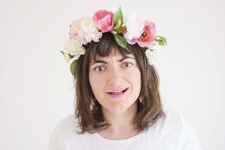 DIY couronne de fleurs facile