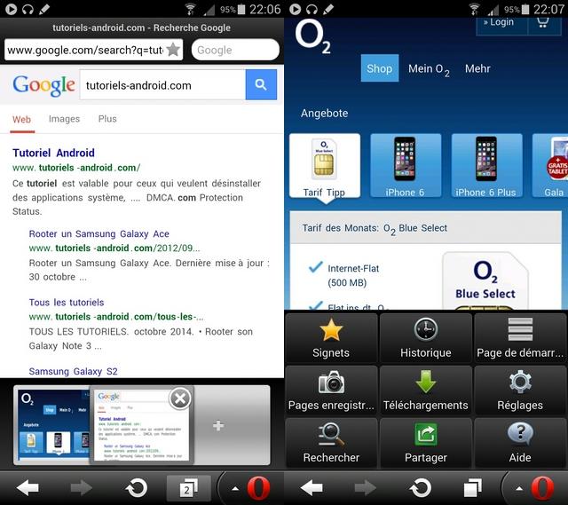 Navigateur Opera Mini pour Android