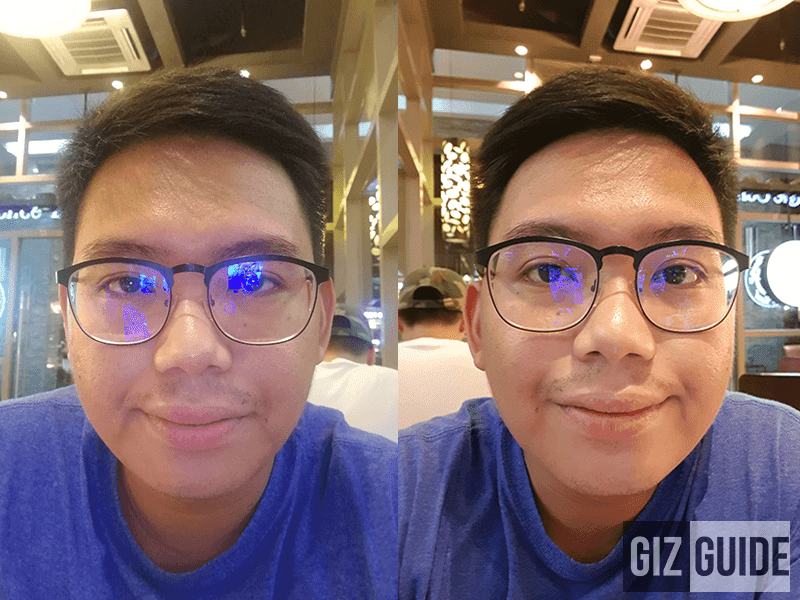 Left P10 Plus, right Galaxy S8+