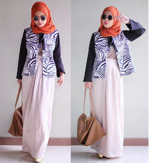 Blazer Motif Untuk Hijab