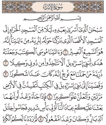 Tafsir Surat Al-Israa Ayat 1, 2, 3, 4, 5