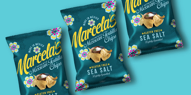 Bao bì thực phẩm Marcella's Authentic Mexican Tortilla Chips thiết kế bởi Design Happy