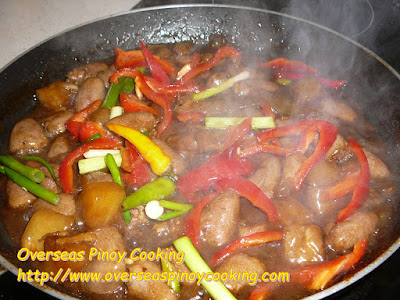 Stirfry Chicken Heart in Oyster Sauce - Cooking Procedure