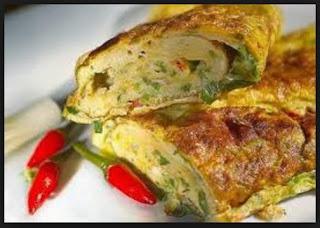 Resep Telur Dadar istimewa gulung