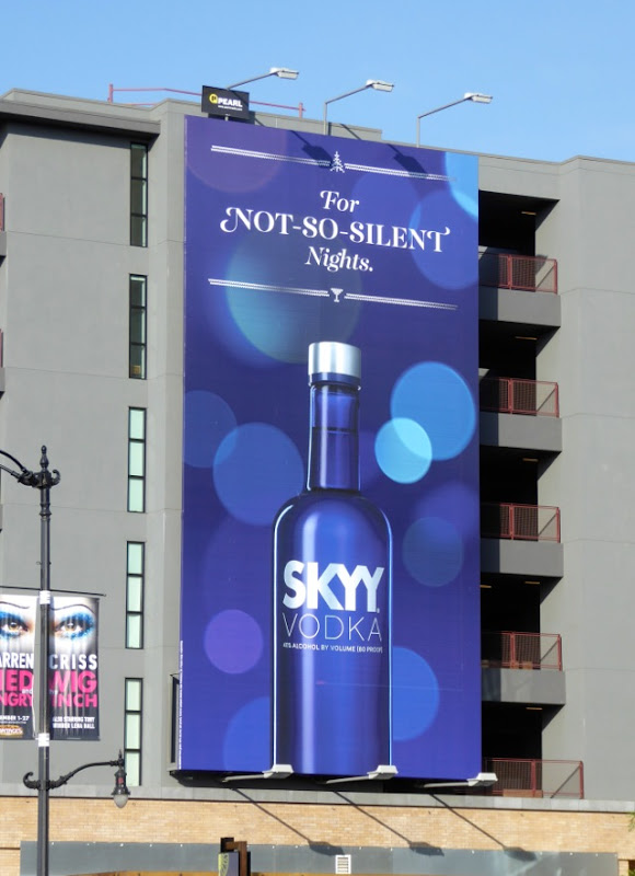 For not so silent nights Skyy Vodka billboard