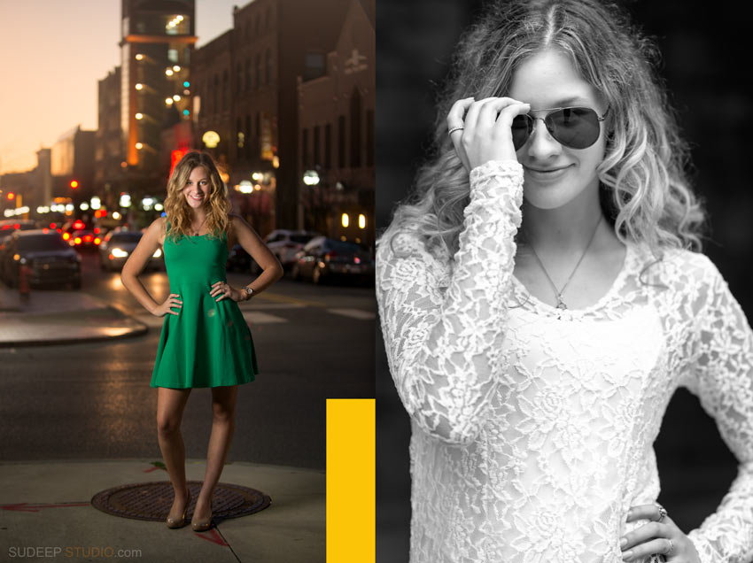 Pioneer High Senior Pictures Girl poses Ann Arbor - Sudeep Studio.com