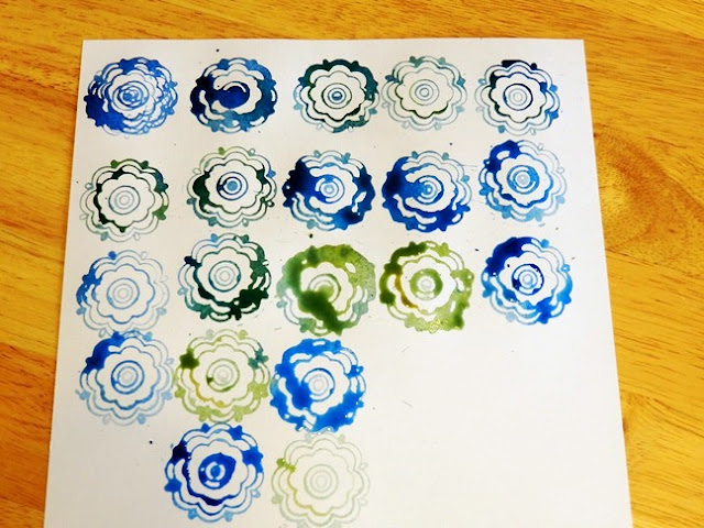 Watercolor Stamp Art