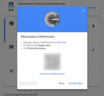Scan Barcode Menggunakan Authenticator