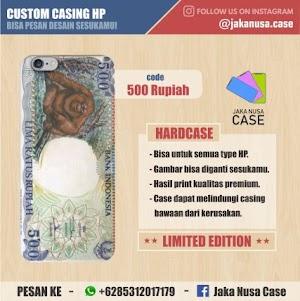 Casing HP Uang 500 Monyet Gelantungan ( Orang Utan )