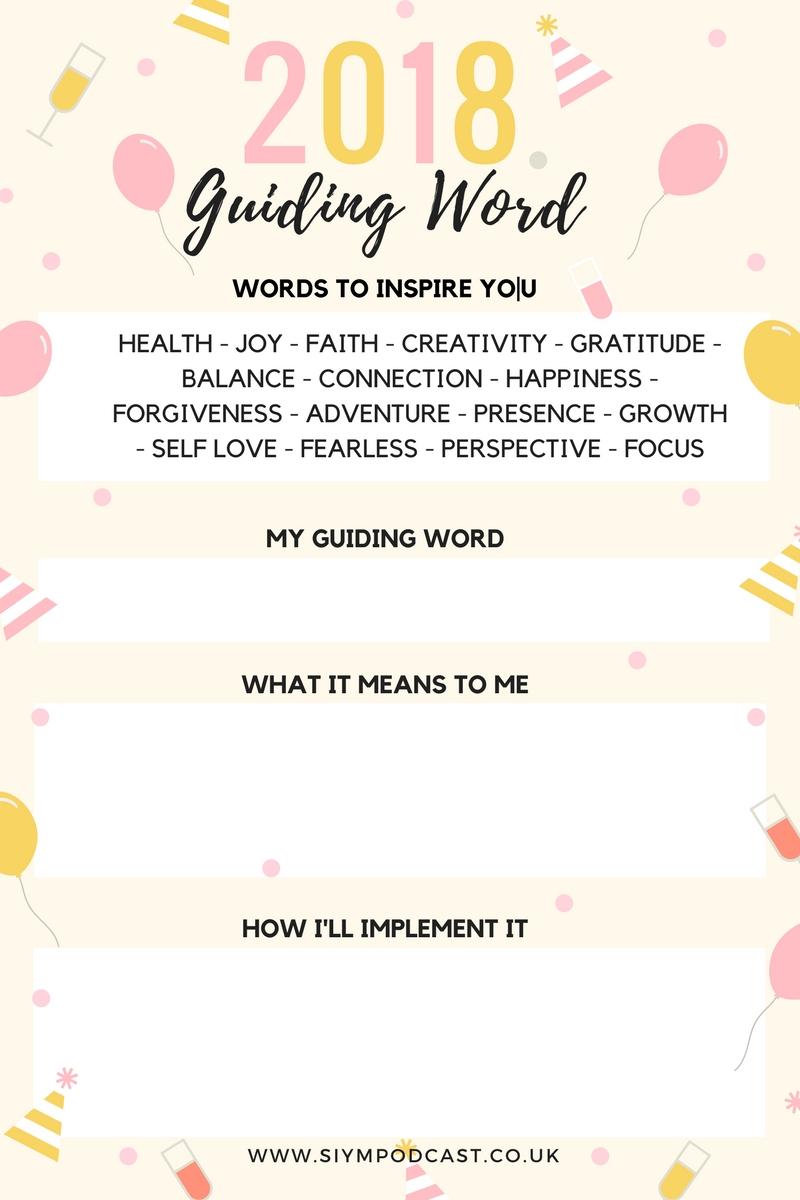 guiding word worksheet 2018