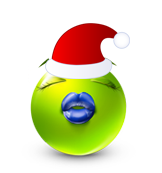 Christmas Smiley Icon 6