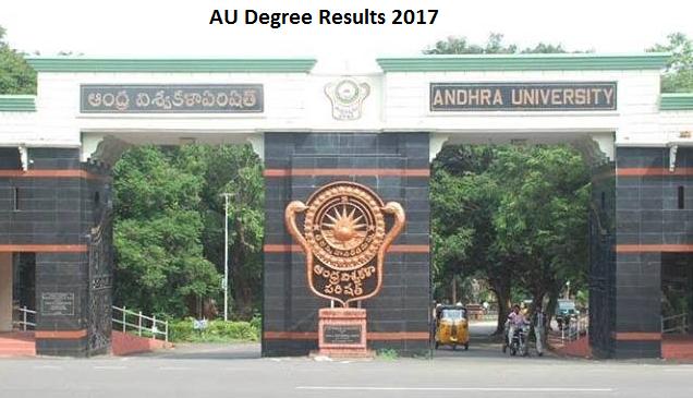 Manabadi Schools9 AU Degree Rewsults 2017 Eenadu Sakhi