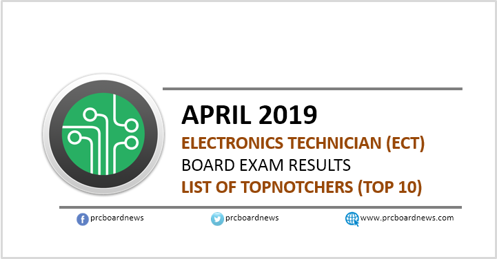 RESULT: Top 10 passers April 2019 Electronics Technician ECT board exam