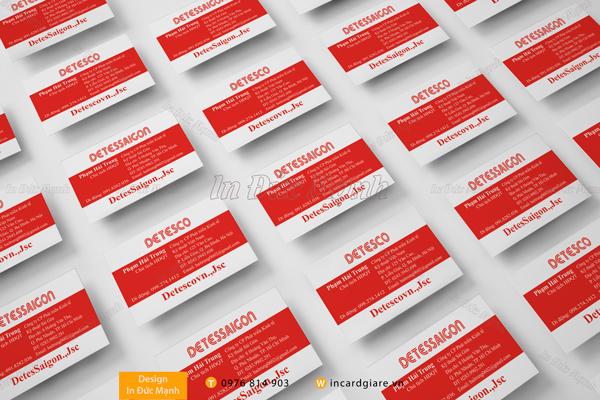 Mẫu card visit công ty DETESCO