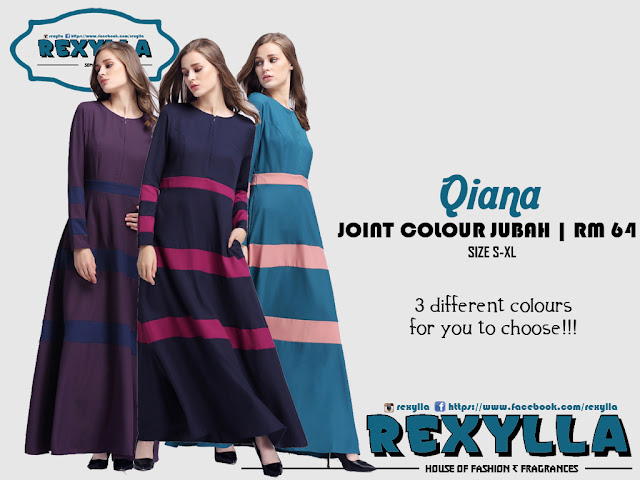rexylla, joint colour, joint colour jubah, qiana collection