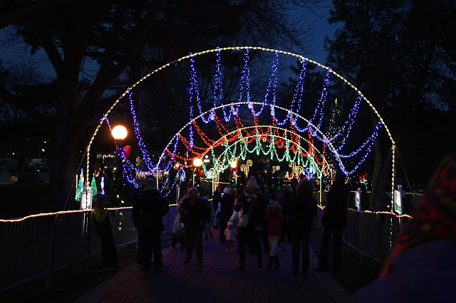 Naper Lights is a jubilant walk through light display in Naperville, IL.