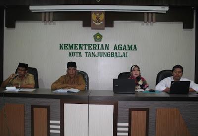 Kemenag Tanjungbalai Terima Kunjungan Tim Auditor Kinerja