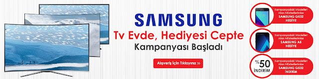 Evkur Samsung Telefon Hediyeli TV Kampanyası