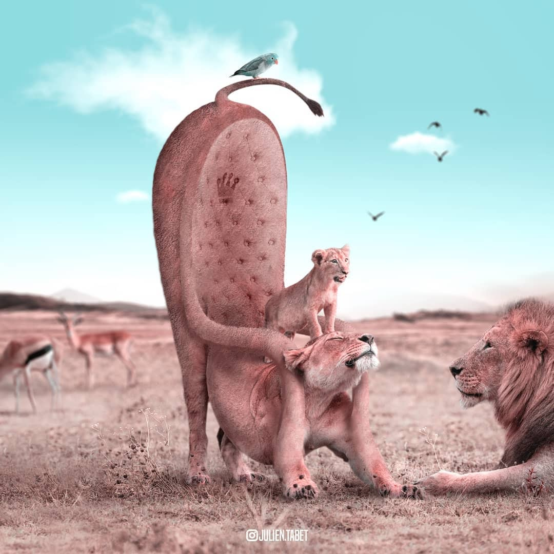 09-Game-of-Thrones-Julien-Tabet-Surreal-Animal-Photo-Manipulation-www-designstack-co