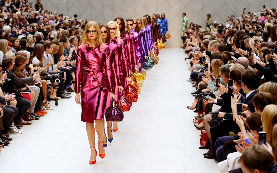 burberry prorsum s/s 2013, technicolor trench coats