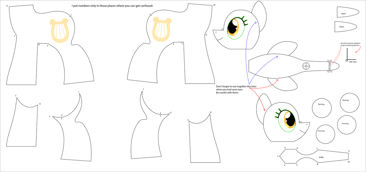 my little pony pattern
