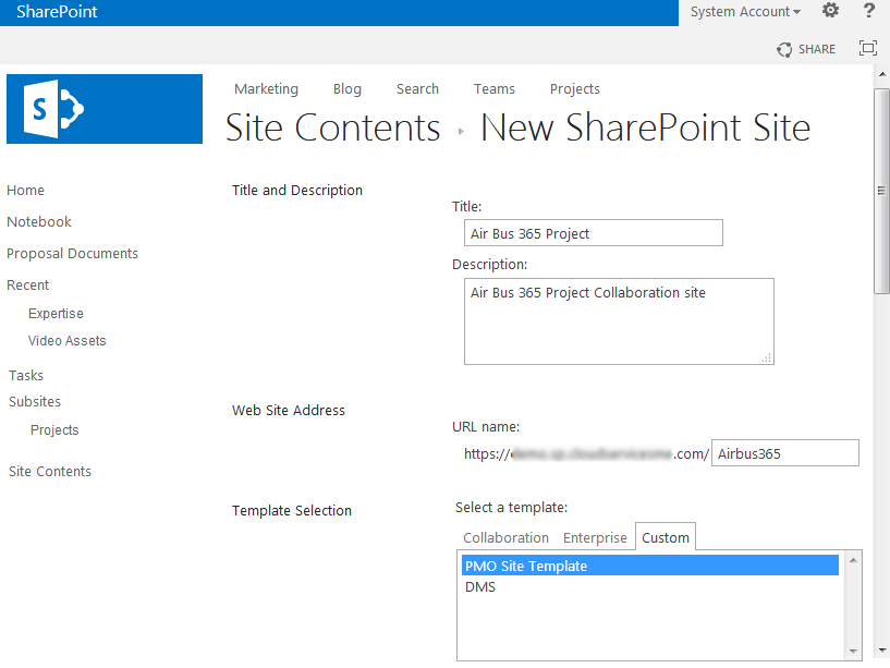 Create a SharePoint Subsite from Custom Site Template using ...