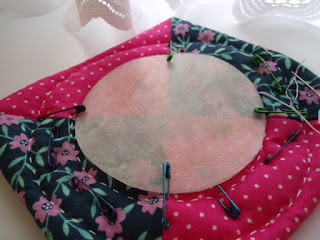 Stitching round my template